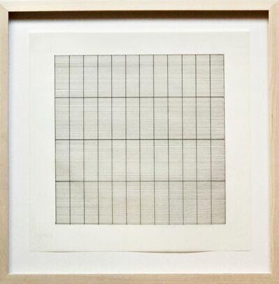 Agnes Martin, 'Untitled Lithograph on Vellum, from Stedelijk Museum (Framed)', 1991