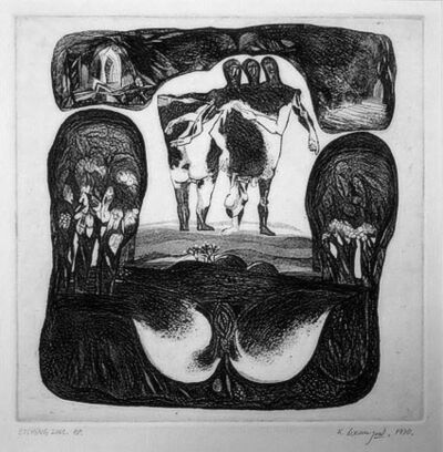 Laxma Goud, 'Untitled (half human half animal)', 1970