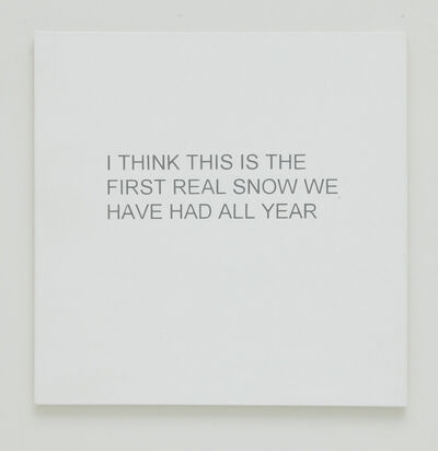 Allison L. Wade, 'Break-up Text Painting: I Think This is the First Real Snow', 2013