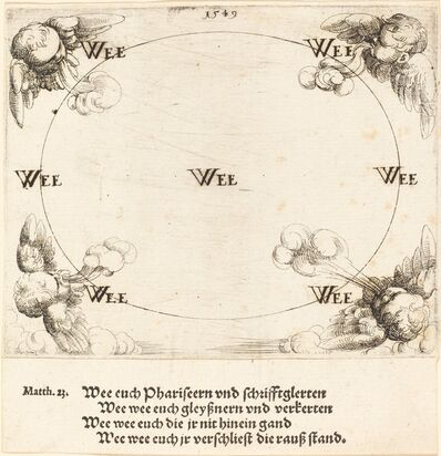 Augustin Hirschvogel, 'Woe is Pronounced on Covetousness', 1549