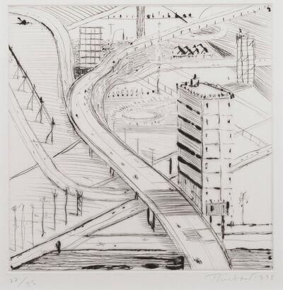 Wayne Thiebaud, 'Freeway Building ', 1998