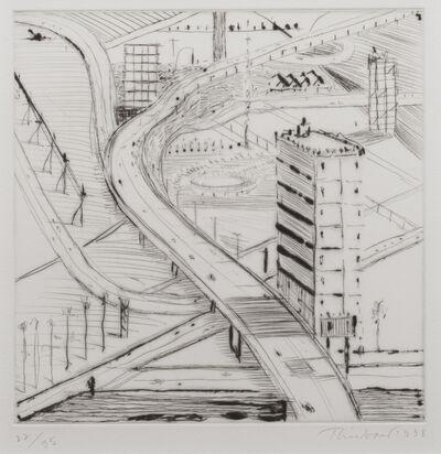 Wayne Thiebaud, 'Freeway Building', 1998