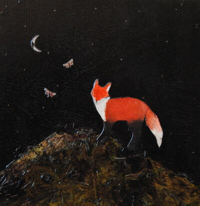 Ashley Anne Clark, 'Red Fox with Two Butterflies', 2018