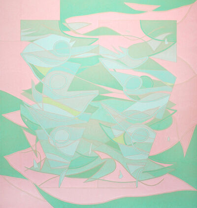 Margaux Ogden, 'Curtains II (Pink and Green)', 2018