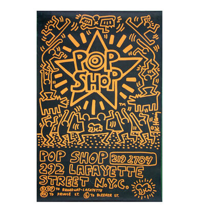 Keith Haring, 'POP SHOP NYC, 1985, Advertising Past-Up Poster, RARE', 1985