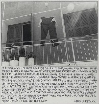 Marcia Resnick, 'Hangups', 1980 (October 22)