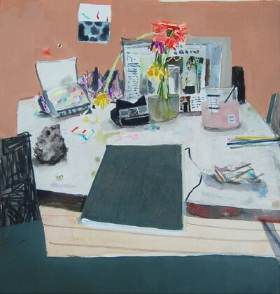 Erika Wastrom, 'Still Life with Sunday Paper and Pink Water', 2016