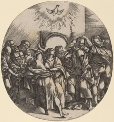 Domenico Campagnola, 'The Descent of the Holy Spirit', 1518