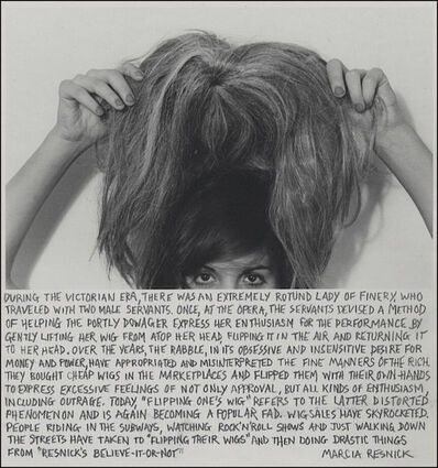 Marcia Resnick, 'Flipping One's Wig', 1980 (February 27)