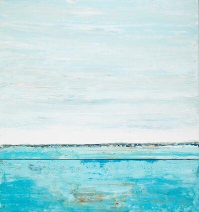 "John Schuyler, '""Eterno #19"" Oil Painting of Landscape Blue Ocean and Sky', 2010-2017"