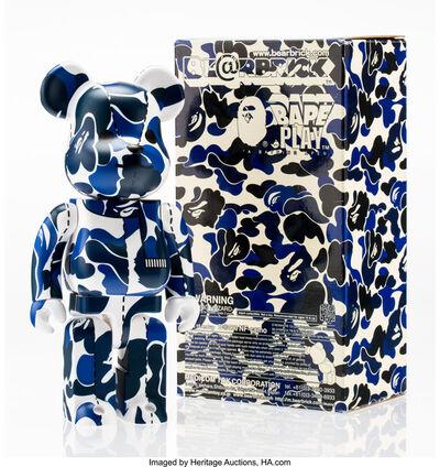 BE@RBRICK X BAPE, 'BAPE Play Camo 400% (Blue and White)', 2008