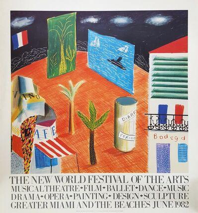 David Hockney, 'The New World Festival of the Arts', 1982