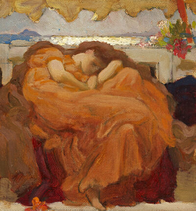 """Lord Frederic Leighton, 'Sketch for """"Flaming June""""', 1894-1895"""