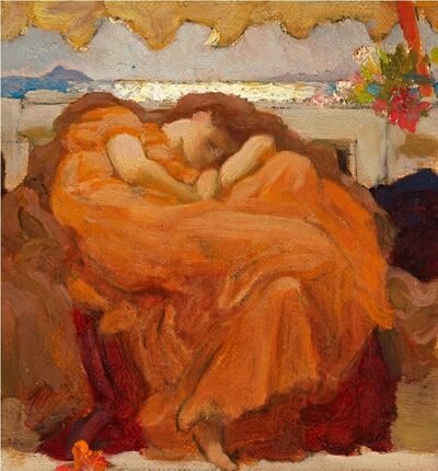 Lord Frederic Leighton, 'STUDY FOR FLAMING JUNE ', ca. 1895