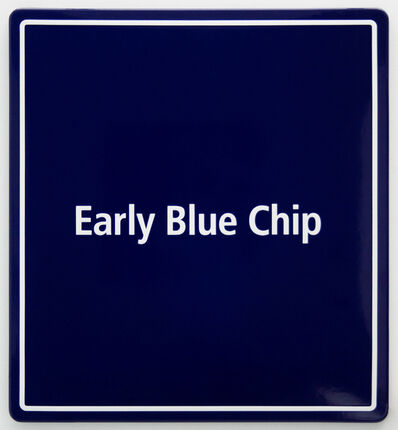 Jonas Lund, 'Early Blue Chip 1', 2016