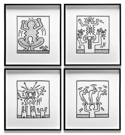 Keith Haring, 'Fertility, Untitled, Untitled, Untitled (4 Works)', 1983