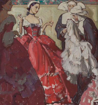 Mead Schaeffer, 'Woman's Choice for Distinguished Clientele, Packard Advertisement Logo'