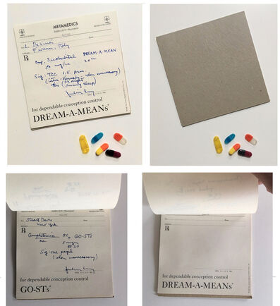 """Marcel Duchamp, '""""PHARMACEUTICALS"""", 1968, Julian Levy Gallery NYC, Multiple from Art Journal S.M.S. (Shit Must Stop), RARE', 1968"""