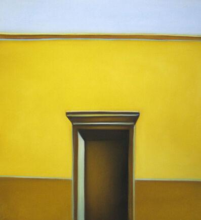 Margaret nes, 'Door in Yellow Wall', 2014