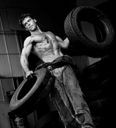 Herb Ritts, 'Fred with Tires VII, Hollywood', 1984