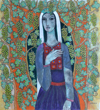Nabil Anani, 'Portrait with Grapes', 2019