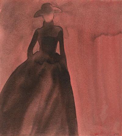 Mats Gustafson, ' Silhouette (Long skirt, hat)', 1997