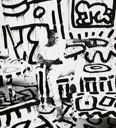 Keith Haring, 'Keith haring at Area nightclub New York 1986', 1986
