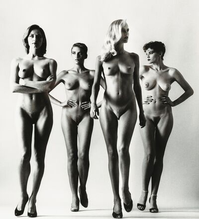 Helmut Newton, 'Sie Kommen (Naked), Paris', 1981