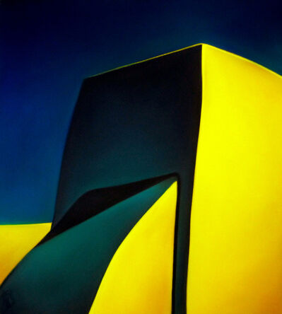 Margaret nes, 'Yellow and Green Walls', 2017