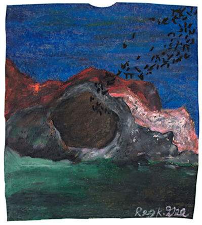 Reginald K Gee, 'Bats Exiting Cave', 1999
