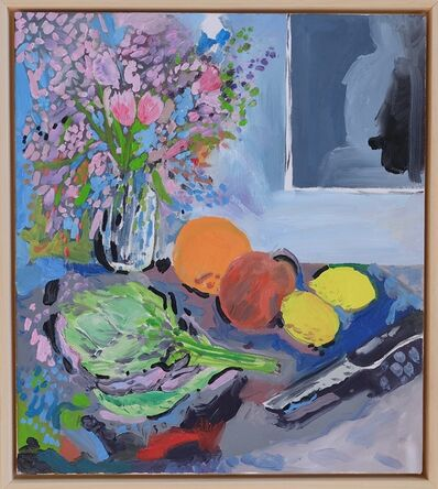 Neil Haas, 'Flowers with artichoke and knife', 2018