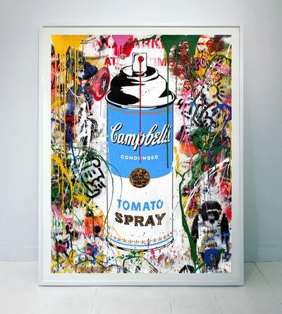 Mr. Brainwash, 'Tomato Spray (blue)', 2017