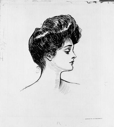 Charles Dana Gibson, 'Head of a Girl', 1877-1944