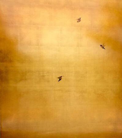 Carolyn Reynolds, 'Three Hummers in Golden Sky', 2017