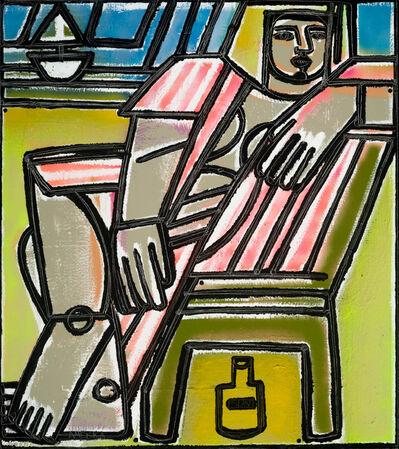 America Martin, 'Green Chair & Sun Oil', 2017