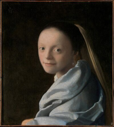 Johannes Vermeer, 'Study of a Young Woman', ca. 1665–1667