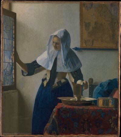 Johannes Vermeer, 'Young Woman with a Water Pitcher', ca. 1662