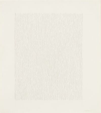 Sol LeWitt, 'Vertical Lines, Not Straight, Not Touching', 1978