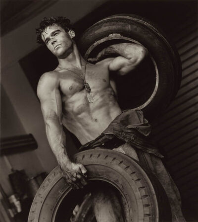 Herb Ritts, 'Fred with Tires IV, Hollywood', 1984
