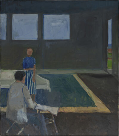 Richard Diebenkorn, 'Man and Woman in a Large Room', 1957