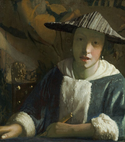 Johannes Vermeer, 'Girl with a Flute', ca. 1665-70