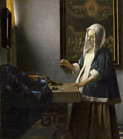 Johannes Vermeer, 'Woman Holding a Balance', ca. 1664