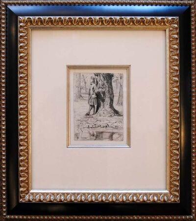 James Abbott McNeill Whistler, 'Seymour Standing Under a Tree', ca. 1859