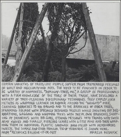 Marcia Resnick, 'Dominay Trees', 1980
