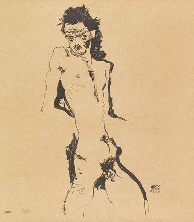 Egon Schiele, 'Male Nude (Self-Portrait) I', 1912