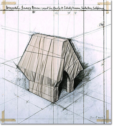 Christo, 'Wrapped Snoopy House Project', 2005