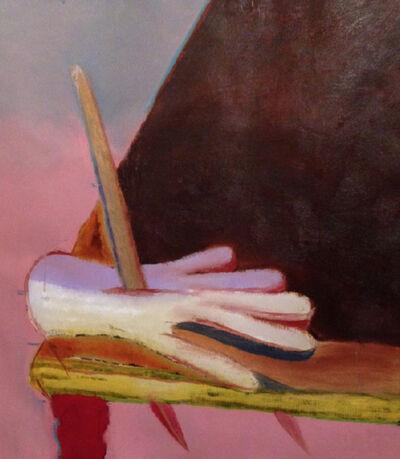 Rhys Lee, 'A knife through a hand through a table', 2017