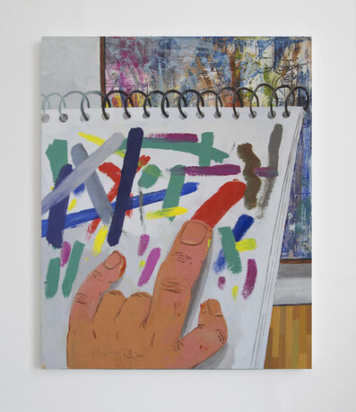 Paul Gagner, 'Finger Painting at the Museum', 2015