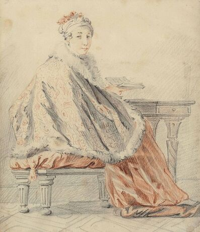 Jean-Baptiste Le Prince, 'A lady seated at a table'