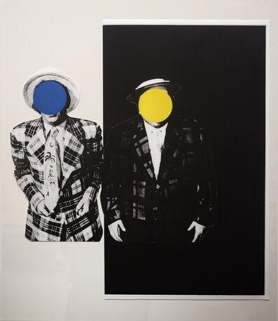 John Baldessari, 'Blue Boy (with Yellow Boy: One with Hawaiian Tie, One in Dark)', 1989